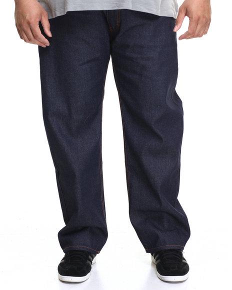 Rocawear Men Volume R-Script Jeans (B&T) Raw Wash 46x34
