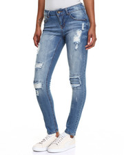 Bottoms - Patchwork Skinny Jean
