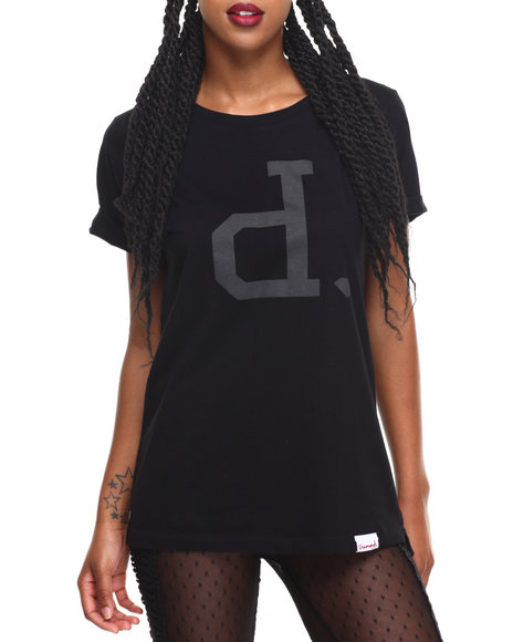 Diamond Supply Co Women Tonal Un Polo Tee Black Large