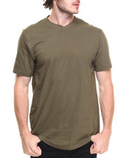 Men - Solid V-Neck Tee