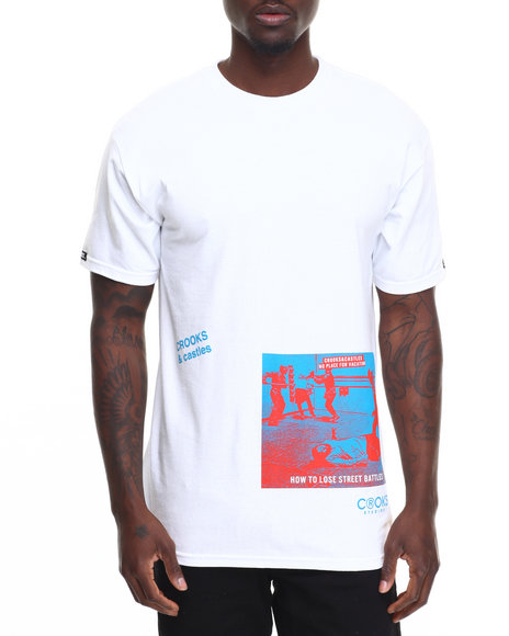 Crooks & Castles Men No Vacation T-Shirt White Small