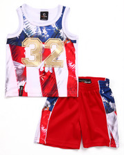 Boys - 2 PC AMERICANA TANK & SHORTS SET (2T-4T)