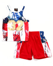 Boys - 2 PC AMERICANA TANK & SHORTS SET (INFANT)