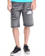 Men - Rip & Distress Denim Shorts