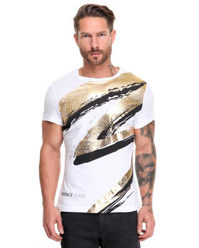 Men - Gold Foil Abstract Tee