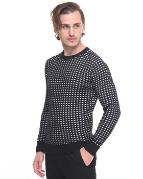 -FEATURES- - Contrast Lattice Sweater