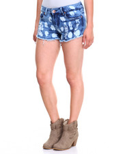Women - Cloud Wash Destructed Frayed Hem Short