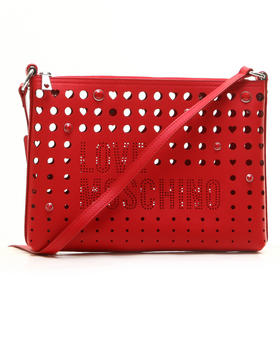 Handbags - LOVE MOSCHINO PERFORATED CLUTCH