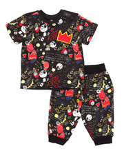 Boys - 2 PC GRAFFITI TEE & CAPRI JOGGERS (4-7)