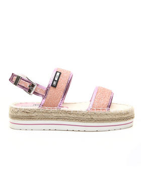 -FEATURES- - LOVE MOSCHINO GLITTER ESPADRILLE SANDALS