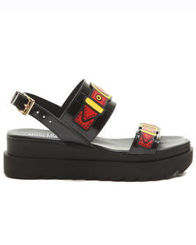 -FEATURES- - LOVE MOSCHINO BUCKLE SANDALS