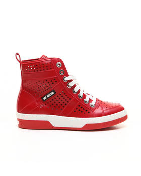 Shoes - LOVE MOSCHINO PERFORATED SNEAKERS