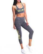 Women - Killing It Printed Sports Bra And Capri set