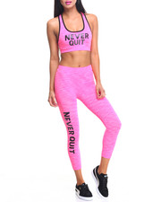 Women - Never Quit Printed Bra And Capri Set