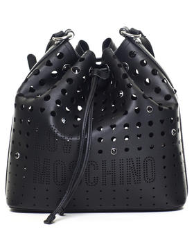 Handbags - LOVE MOSCHINO PERFORATED DRAWSTRING BAG