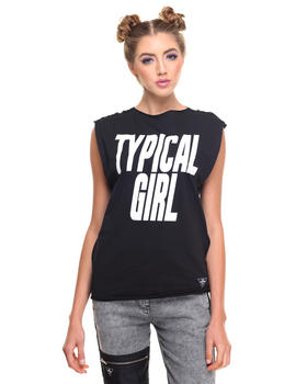 Tops - TYPICAL GIRL MUSCLE TEE