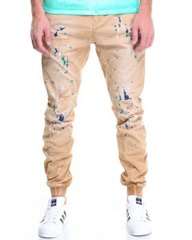 Pants - Damiana Khaki Painted Jogger