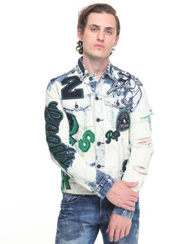 PRPS - White Eye Patchwork Denim Jacket