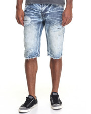 Men - Premium Rip - And - Repair Denim Shorts