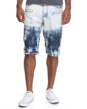 Men - Destroy Ice Moto Denim Shorts