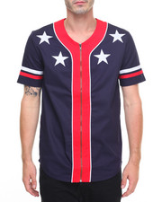 Men - Patriotic Baseball Jersey