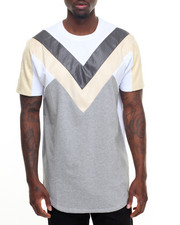 T-Shirts - Double V Paneled S/S Tee