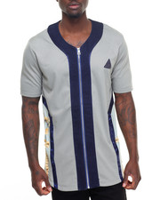Men - Hybrid Denim Baseball Jersey