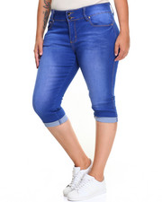 Fashion Lab - Butty Lifter Stretch Denim Capri (Plus)