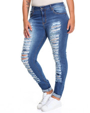 Fashion Lab - Rip Mania Stretch Skinny Jean (Plus)