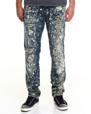 Men - Monarchy Splattered Slim - Straight Denim Jeans