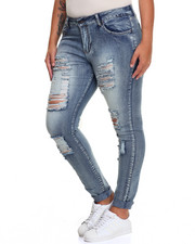 Fashion Lab - Destructed Stretch Skinny Jean (Plus)