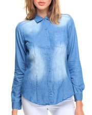 Tops - Sandblasted Denim Shirt