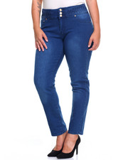 Women - Waist Detail 3 Button Jean (Plus)