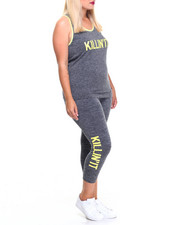 Sets - Killing It Printed Tank Top And Capri set (plus)
