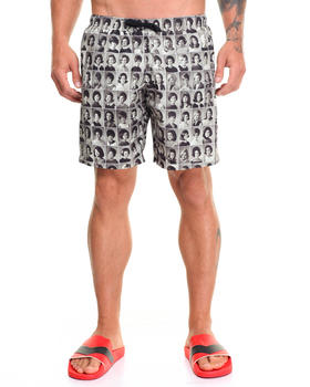 Men - Sixties Yearbook Print Swim Trunks