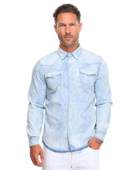 True Religion - Ryan Bleached Denim Western Shirt