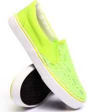 Footwear - Lace Slip On Sneaker