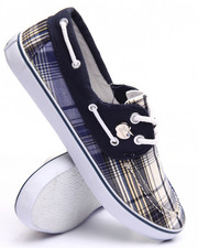 Fashion Lab - Plaid Boat Sneaker