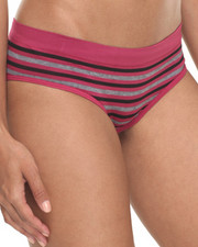 DRJ Lingerie Shoppe - Heather/ Stripe 3Pk Seamless Hipsters