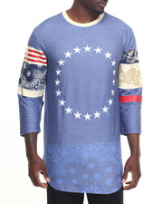 Men - Old American 3/4 Sleeve Raglan Tee