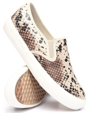 Fashion Lab - Faux Snake Skin Slip On Sneakers