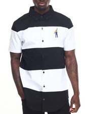 Men - Color Block S/S Button - Down