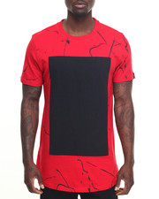 Men - Marble Scallop Tee w/ Tape Detail
