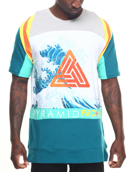 Buy pro surf triad teeq men 39 s shirts from black pyramid for Black pyramid t shirts for sale