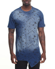 Men - Sketch Indigo Fishtail Tee