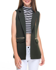 Vests - Super Techno Zip Trim Vest