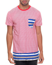 Basic Essentials - Striped S/S Tee With Design Bottom
