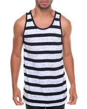 Basic Essentials - Yarn - Dyed Striped Elongated Tank Top