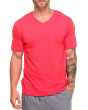 Men - Basic Heathered V - Neck S/S Tee