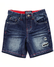 Bottoms - STARS & STRIPES DENIM SHORTS (2T-4T)